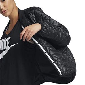 Nike quilted bomber down jacket
